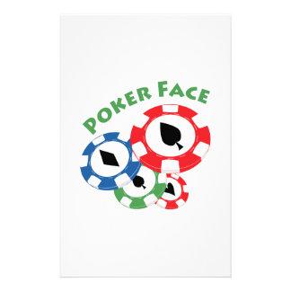 Poker Face Stationery Design