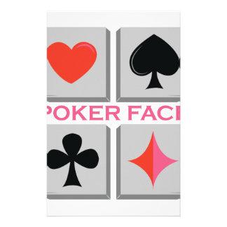 Poker Face Stationery Paper