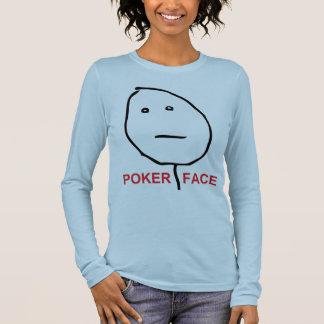 Poker Face (text) Long Sleeve T-Shirt