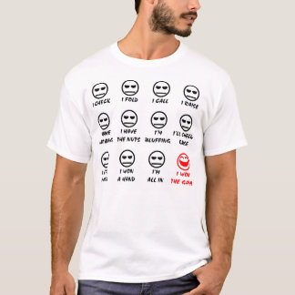 """Poker Faces"" Full Front Light T-Shirt"