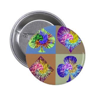 Poker Fans  Club  Merchandise 6 Cm Round Badge