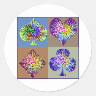 Poker Fans  Club  Merchandise Round Sticker