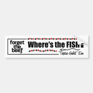 Poker Fish bumpersticker Bumper Sticker