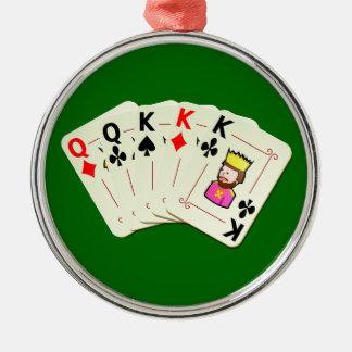 Poker Full House Christmas Ornament