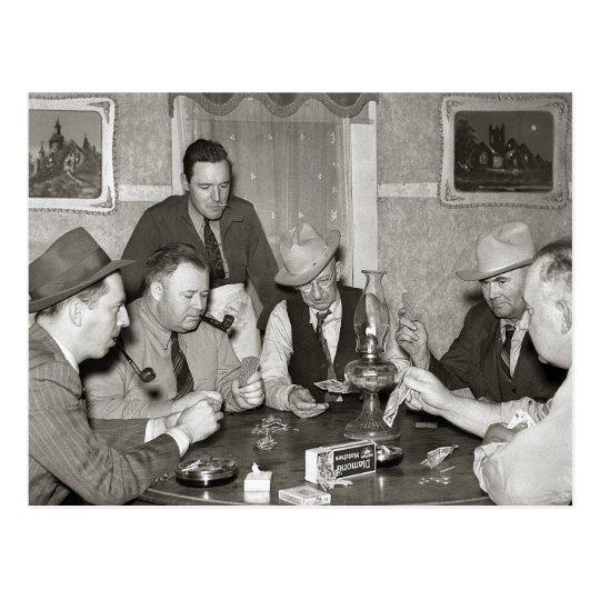 Poker Game, 1939 Postcard