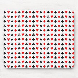 Poker game cards symbols mouse mat