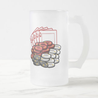 Poker game night beer mug