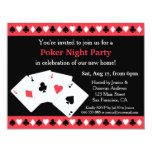Poker Game Night Housewarming Party Invitations