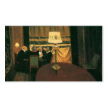 Poker game painting by Vallotton players at table Business Card Template
