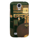 Poker game painting by Vallotton players at table Samsung Galaxy S4 Cases
