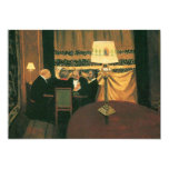 Poker game painting by Vallotton players at table Announcement