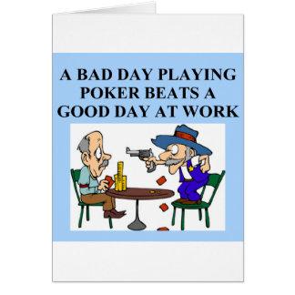 poker game player joke card