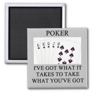 poker game player joke fridge magnet