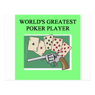 POKER game player joke Postcard