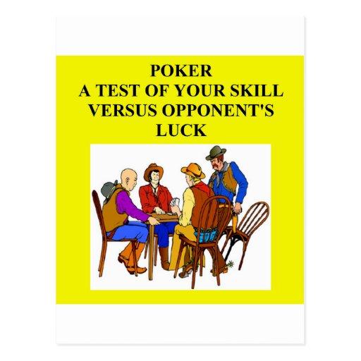 poker game player joke post cards