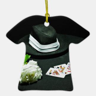 Poker gangster gun rose ceramic T-Shirt decoration