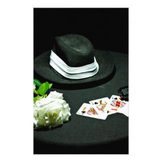 Poker gangster gun rose stationery