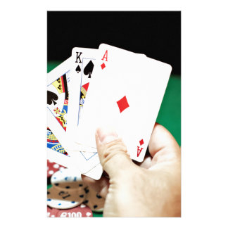 Poker good hand personalized stationery