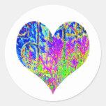Poker Graffiti Heart Round Sticker