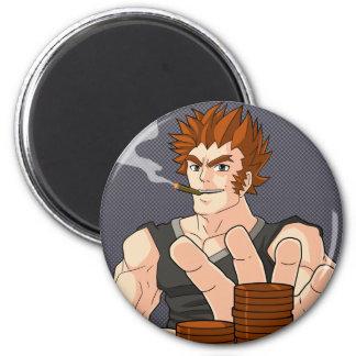 Poker Guy All In 6 Cm Round Magnet