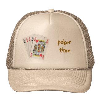 poker hand poker time cap trucker hats