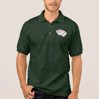 Poker Hands - Flush - Diamonds Suit Polo Shirt