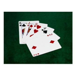Poker Hands - High Card - King Postcard