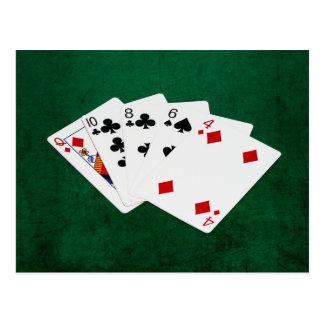 Poker Hands - High Card - Queen Postcard