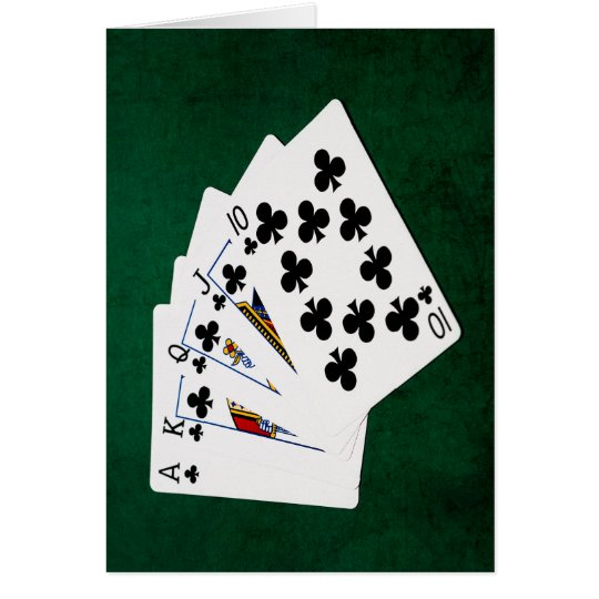 Poker Hands - Royal Flush - Clubs Suit Card