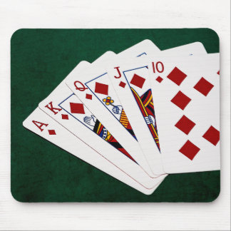 Poker Hands - Royal Flush - Diamonds Suit Mouse Mat