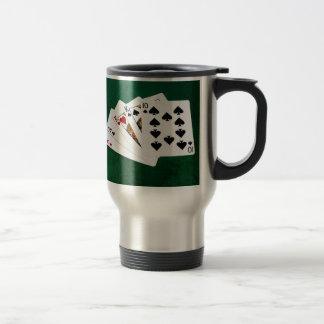 Poker Hands - Two Pair - Ace, King Travel Mug