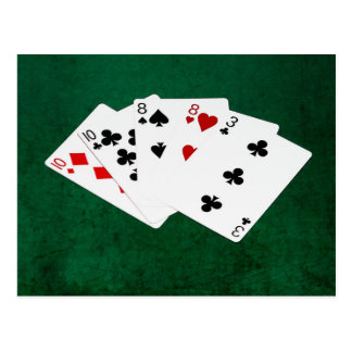 Poker Hands - Two Pair - Ten, Eight Postcard
