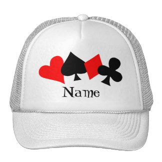 Poker Hat Template Trucker Hat