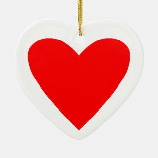 Poker Heart Christmas Ornament