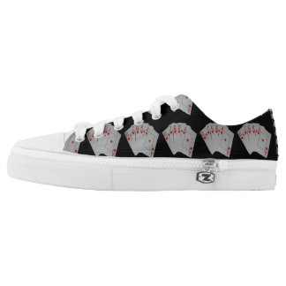 Poker_Heart_Flush,_Lowtop_Unisex_Zipz_Sneakers Printed Shoes