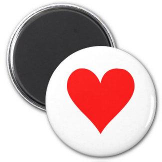 Poker heart fridge magnet