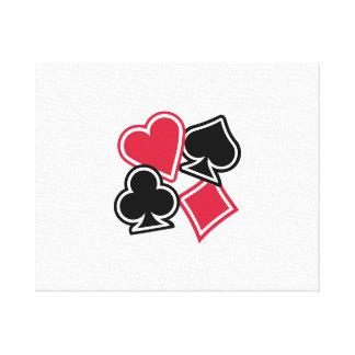 Poker heart spade diamond club canvas print