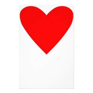 Poker Heart Personalised Stationery