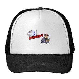 poker her mesh hat