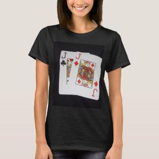 Poker,_Jacks,_Pockets,_Pair,_Ladies_Black_T-shirt. T-Shirt