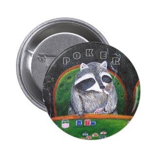 Poker King 6 Cm Round Badge