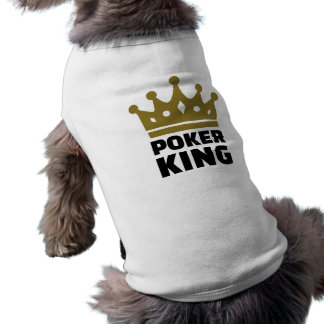 Poker king crown sleeveless dog shirt