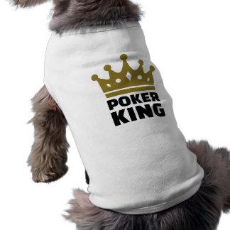 Poker king crown sleeveless dog shirt