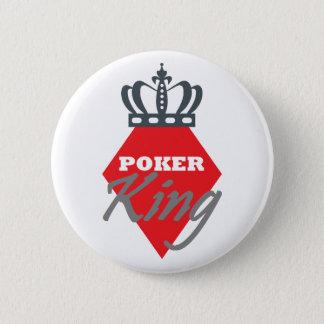 Poker King - diamond 6 Cm Round Badge