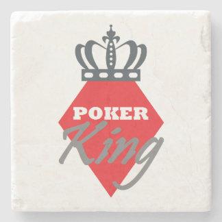 Poker King - diamond Stone Coaster