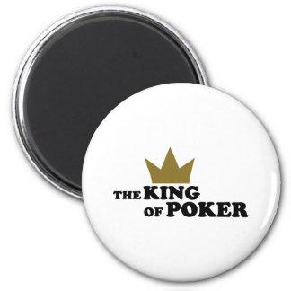 Poker king refrigerator magnet