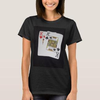Poker,_Kings,_Cowboys_Pockets_Ladies_Black_T-shirt T-Shirt