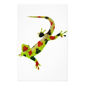 Poker Lizard Customised Stationery
