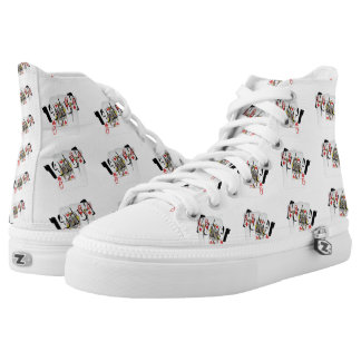 Poker Logo, Queens, High Tops Unisex Zipz Shoes Printed Shoes