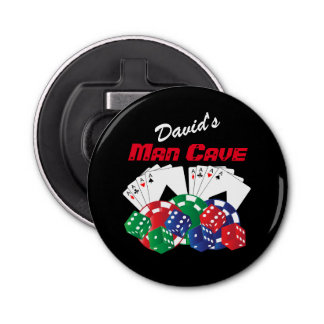 Poker Night at the Man Cave Bottle Opener